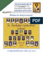Weekly Bulletin 060610 Graduation