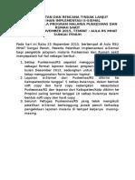 Kesepakatan Dan Rtl E-sismal