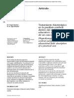 Tratamiento fisioterápico en la parálisis cerebral dentro del ámbito educativo