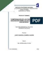 Comprobación de Los Parámetros de Adquisición Sismica 3D en Una Zona de Chicontepec 1