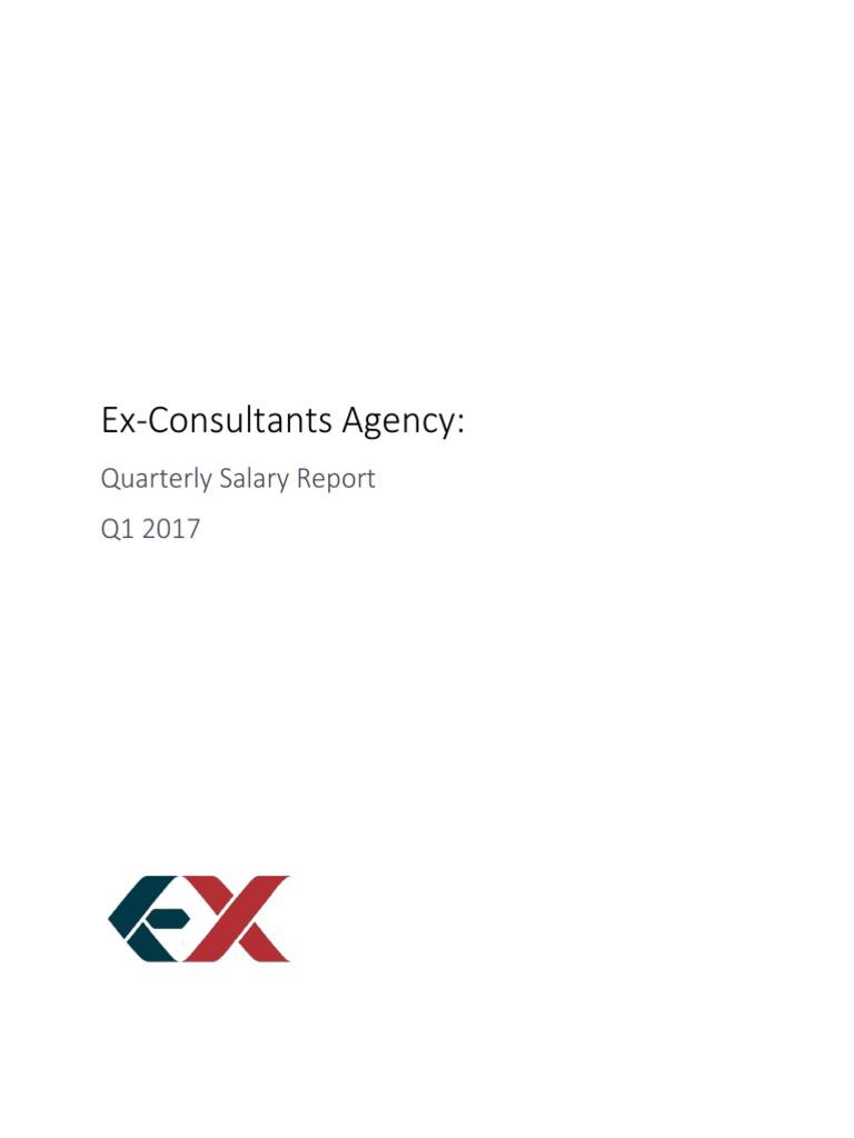 Ex-Consultants Agency: Quarterly Salary Report | Mc Kinsey & Company