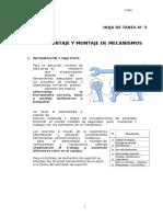HOJA DE TAREA N° 3 DESMONTAJE Y MONTAJE DE MECANISMOS