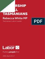 Leadership for All Tasmanians