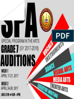 Spa Audition 2017