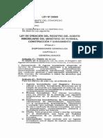 Ley 29080 - Ley de Creación Del Registro Del Agente