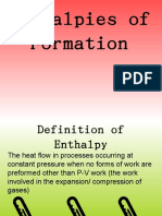 Entalpy of Formation