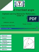 Arcs and Inscribed Angle