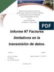 Informe 7 Factores Limitativos en La Transmision de Datos