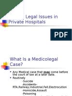 Medico Legal Difficulties