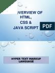 HTML+CSS+Java script