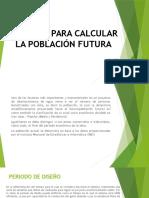 Métodos Para Calcular La Población Futura