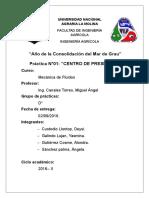 Centro de Presioones
