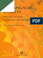 Les Langages à Objets – Principes de Base Et Techniques de Programmation