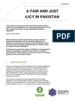Towards Fair & Just Fiscal Policy in Pakistan