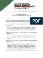 Ley Orgánica de Reorganización del Sector Eléctrico
