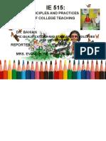 Principles of College Teaching