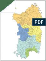 Cartina Delle Provincie Della Sardegna (2017)