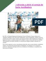LosdelPerdón Volverán a Abrir El Cortejo de María Auxiliadora