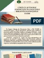 Cecan, Svetlana. Cărţi cu autograf şi dedicaţii în colecţiile Bibliotecii Ştiinţifice USARB