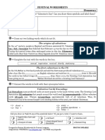 Valentines Day Elementary Worksheet