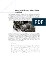Cara Memperbaiki Starter Motor Yang Rusak Atau Mati