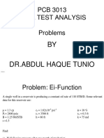 Problems Well Test Analysis (EI-function)
