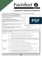 Data Interpretation Questions - Temperature Regulation