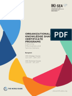 Org. Knowledge Sharing Certificate Program_World Bank and SEA-IKI