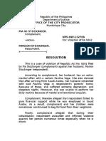 Resolution Pia Stockinger