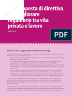 Una proposta di direttiva per migliorare l'equilibrio tra vita privata e lavoro