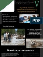 Papel de La Medicina Veterinaria en Desastres y Emergencias