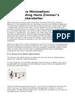 Hans Zimmer Analysis Interstellar