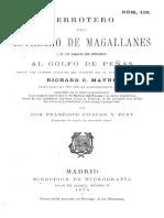 """Chile, """"Derrotero del Estrecho de Magallanes al Golfo de Penas"""", 1871"""