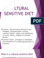Cultural Sensitive Diet