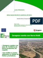 Proyecto Huertas Life Km 0, resultados