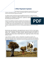 Last Mile Payment System