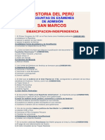 Historia Del Perú San Marcossss