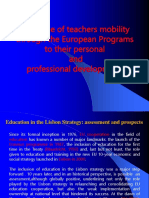 MASTODONTI R the Value of Teachers Mobility