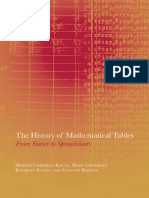 The History of Mathematical Tables