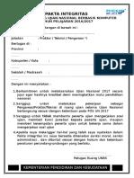 Pakta Integritas Unbk 2017