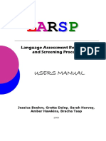 LARSP Student Manual