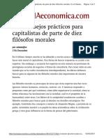SemanaEconomica - Diez Consejos Prácticos Para Capitalistas de Parte de Diez Filósofos Morales