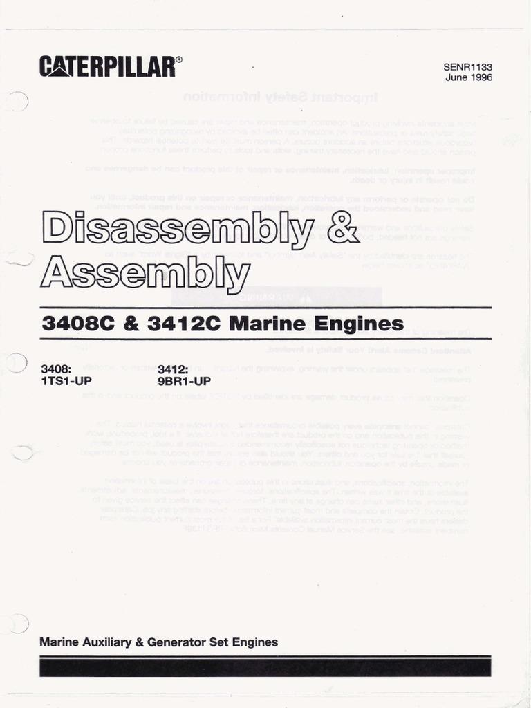 caterpillar3412 manual disassembly assembly pdf belt mechanical rh scribd com D9 Caterpillar Caterpillar 3412 Dita Specs