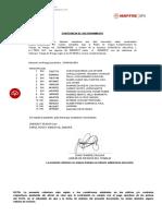 Constancia Consorcio Multiple
