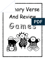 Games Bible Review and Memory Verse