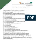 (1) Questionário Sobre Lubrificação