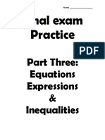 0003 course 2 post test practice part three - equations expressions and inequalities