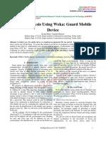 GAIT Analysis Using Weka Guard Mobile