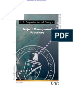 DOE Project Management Practices Oct 2000
