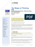 The Magic of Thinking Big Summary